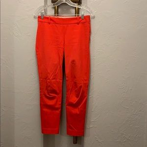 J.Crew size 0 red stretch pants